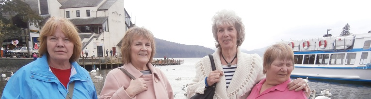 Members enjoying a day trip in the Lakes