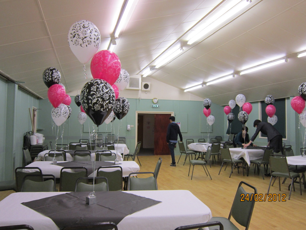 Hall decked for party